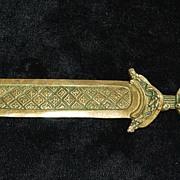 French Napoleon III Bronze Letter Opener