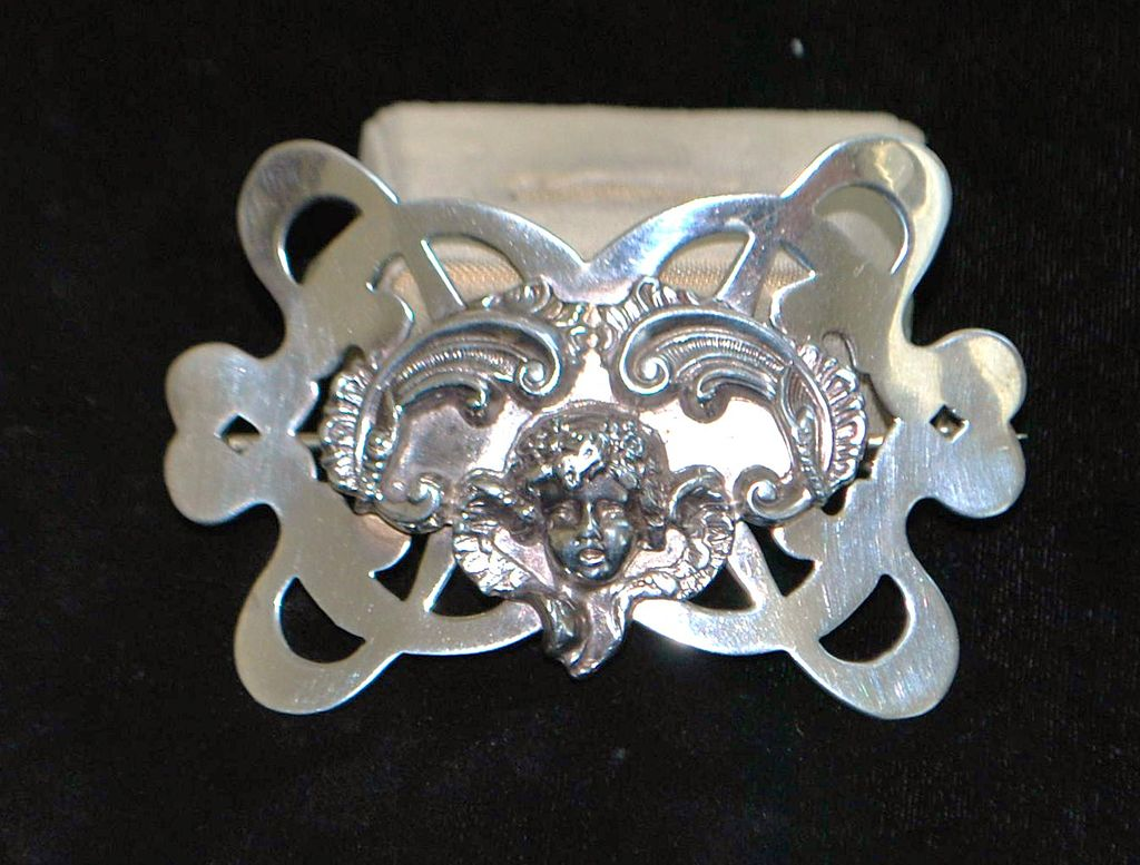 Large Art Nouveau Sterling Brooch by Unger Bros - 1915