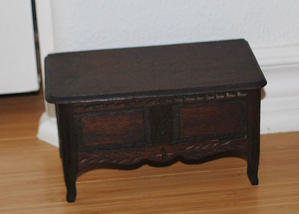 Country French Miniature Wood Buffet Jewelry Box