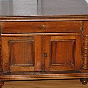 Miniature  German  Mid-19th Century  Walnut Side Board