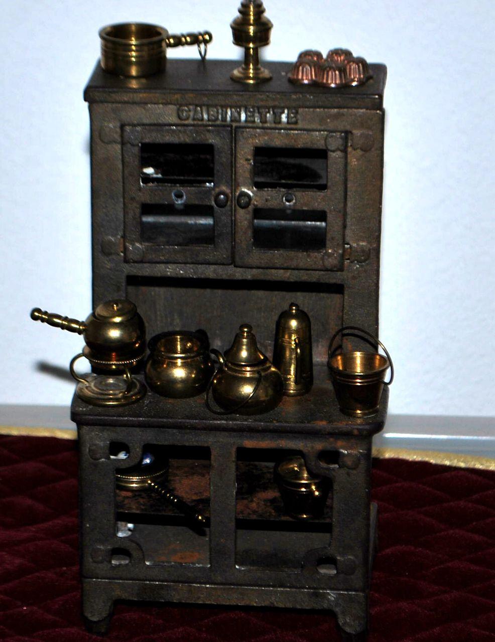 Hoosier Style Miniature Metal Cabinet - 1920's