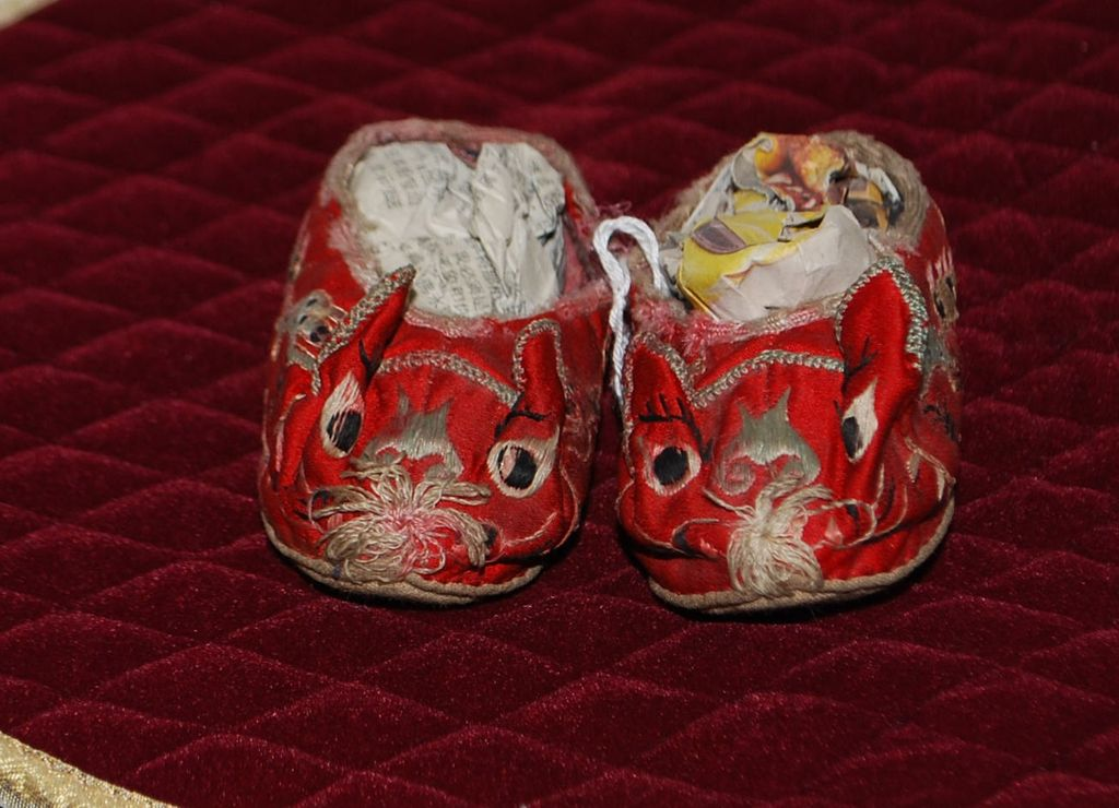 Pair of Chinese Silk Child Shoes
