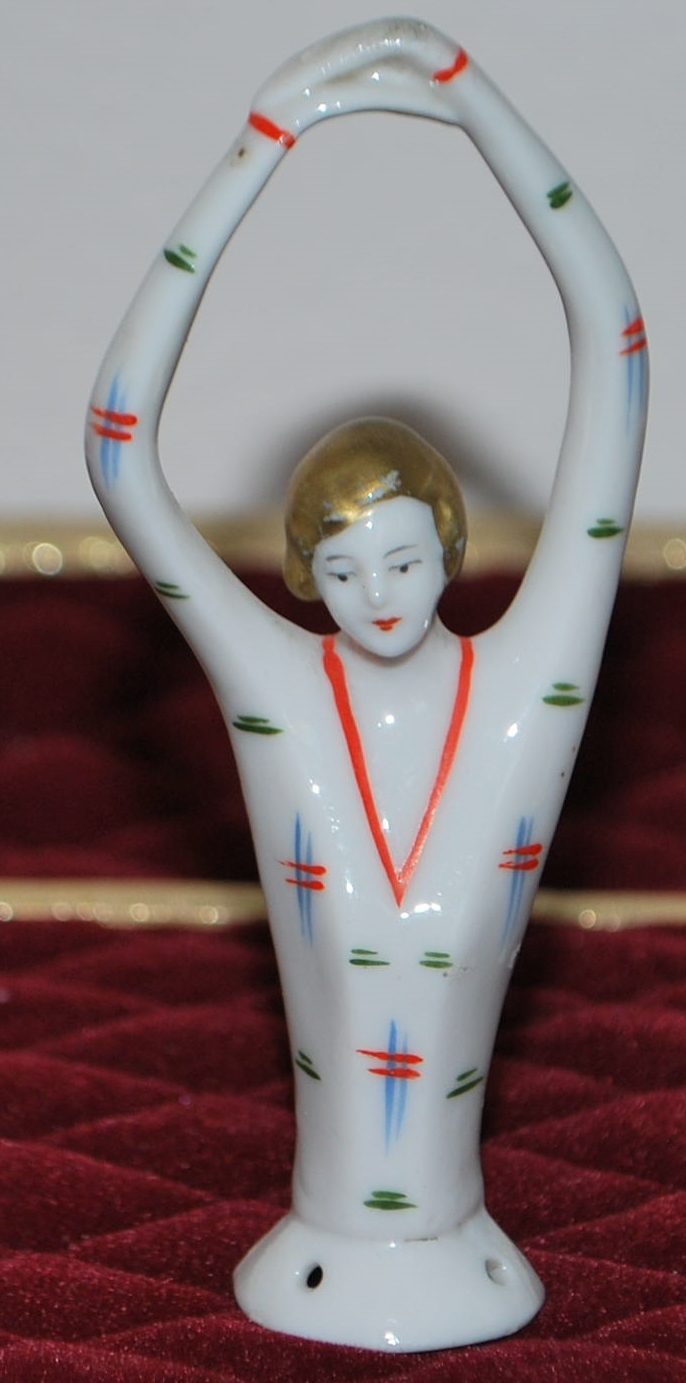 Art Deco Woman Half Doll