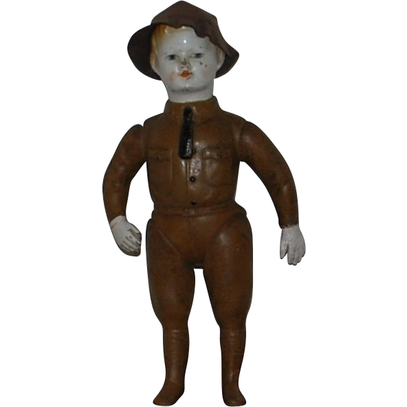 WWI Doughboy Soldier DOLL  W/HAT