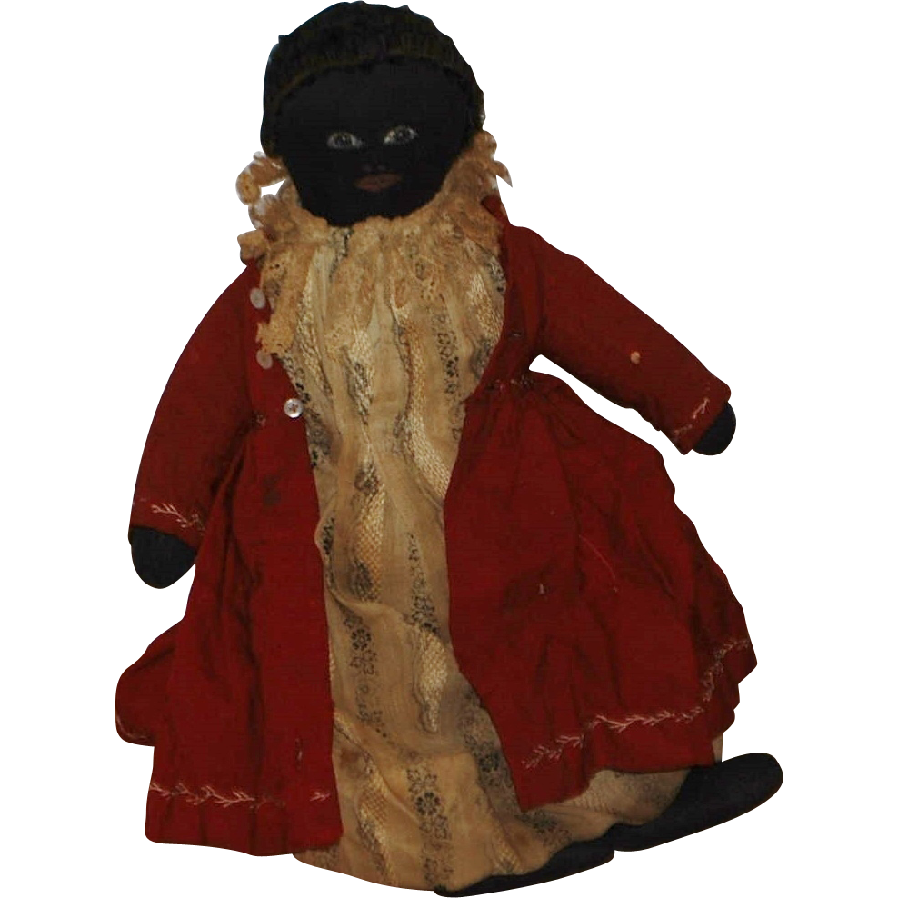 Black Americana Folk Art Cloth Doll