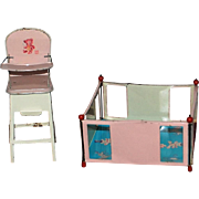 J. Chein & Co Playpen & Hi Chair