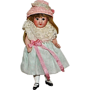 All Bisque German Mignonette Pocket Doll