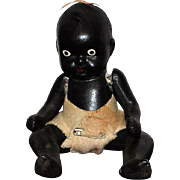 All Black Bisque Doll