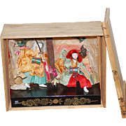 Japanese KabukiI Theater Figures in Crate