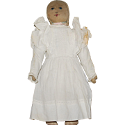 "13-1/2"" Hand Painted Face Cloth Babyland Rag Doll"