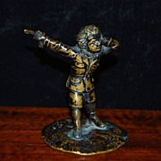 "French Miniature Bronze ""The Duelist"",c.1870"
