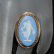 14K Classical Wedgwood and Gold Ring - 1960's