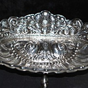 Beautiful Welsch Peruvian 900 Silver Footed Bowl,c.1920