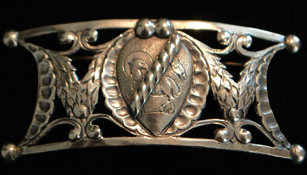 Large Peruzzi Sterling Brooch,1920's