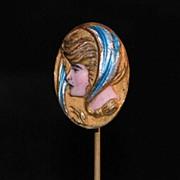 Art Nouveau Enamel Stickpin, c. 1900