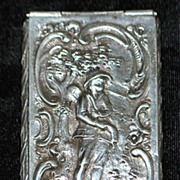 German 800 Silver Snuff Box,c. 1890