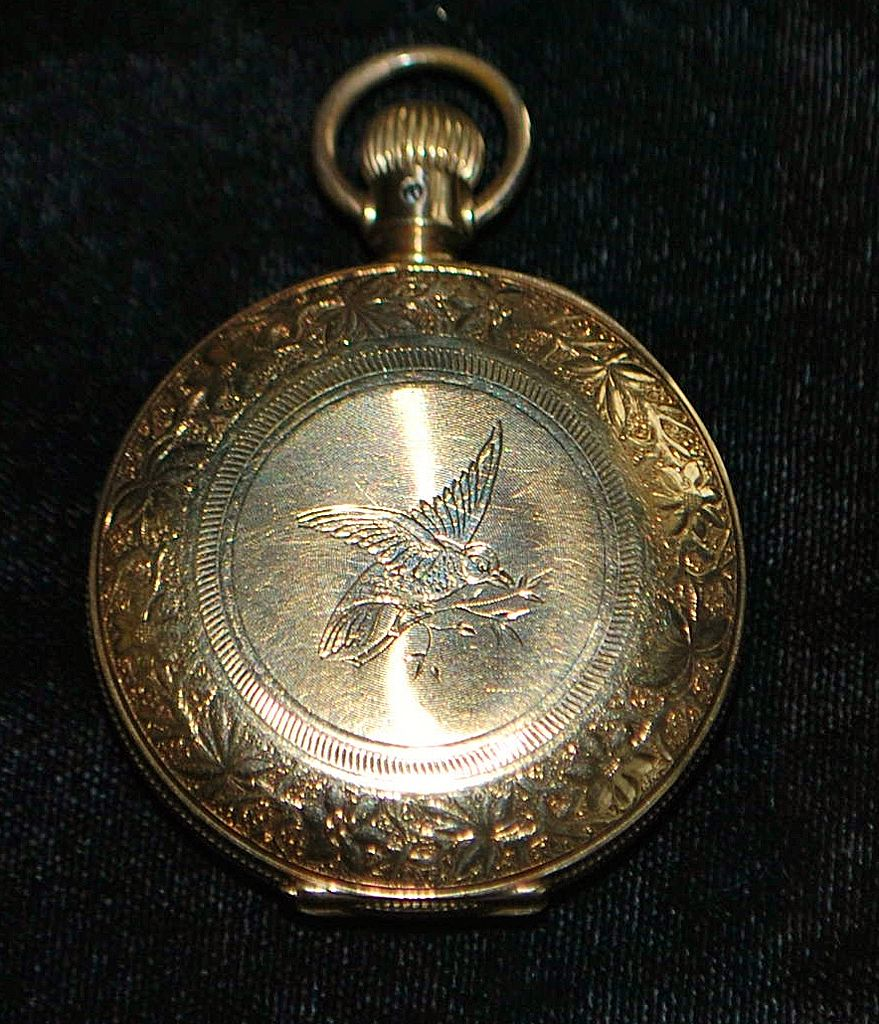 Victorian Lady's HC Hummingbird Pocket Watch,1887