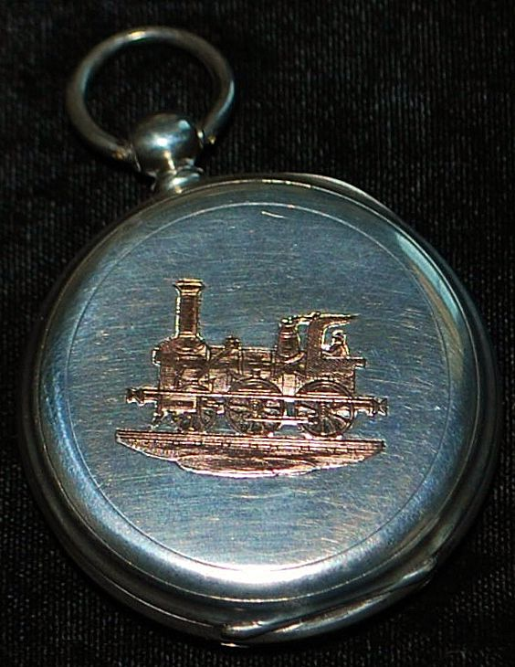 French Silver and Gold Railroad Pocket Watch,c.1860
