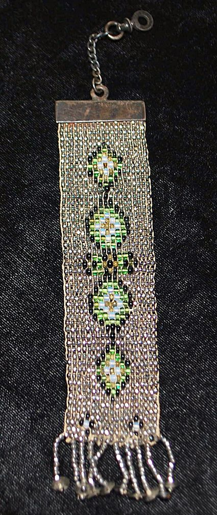 Victorian Man's Steel Beaded Watch Fob, c. 1880's