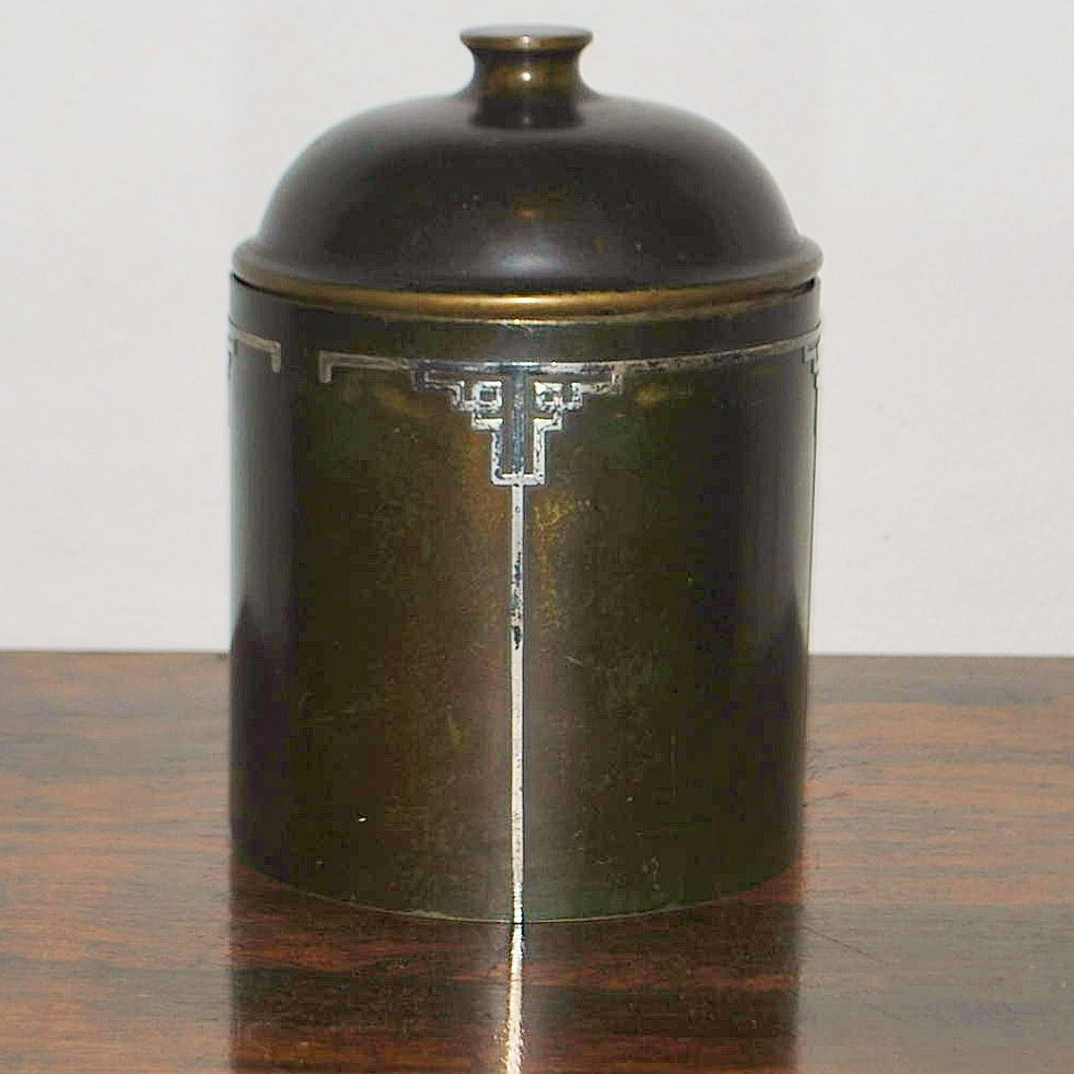 Heintz Arts & Crafts Sterling On Bronze Humidor, 1912