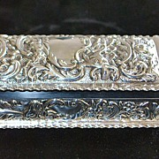English Art Nouveau Sterling Silver Box -  William Comyms - London  c. 1900