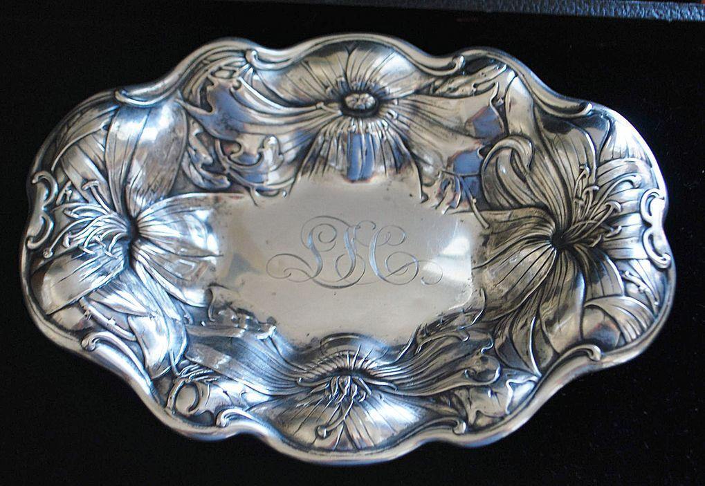 Gorham Art Nouveau Sterling Bowl, c. 1902