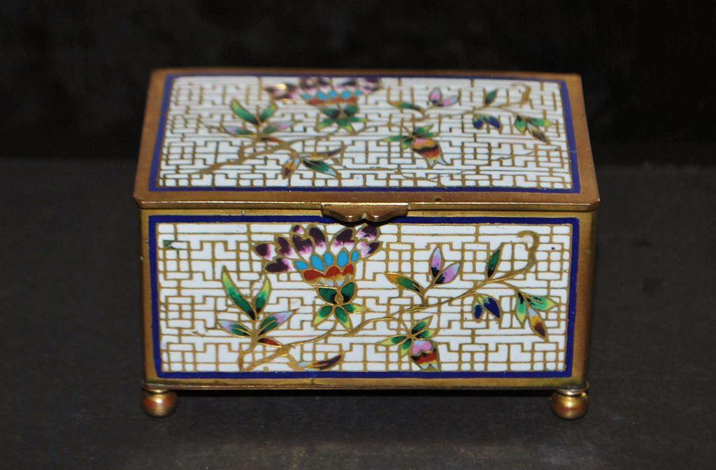 French Cloisonne Enamel Table Snuff Box, c. 1890