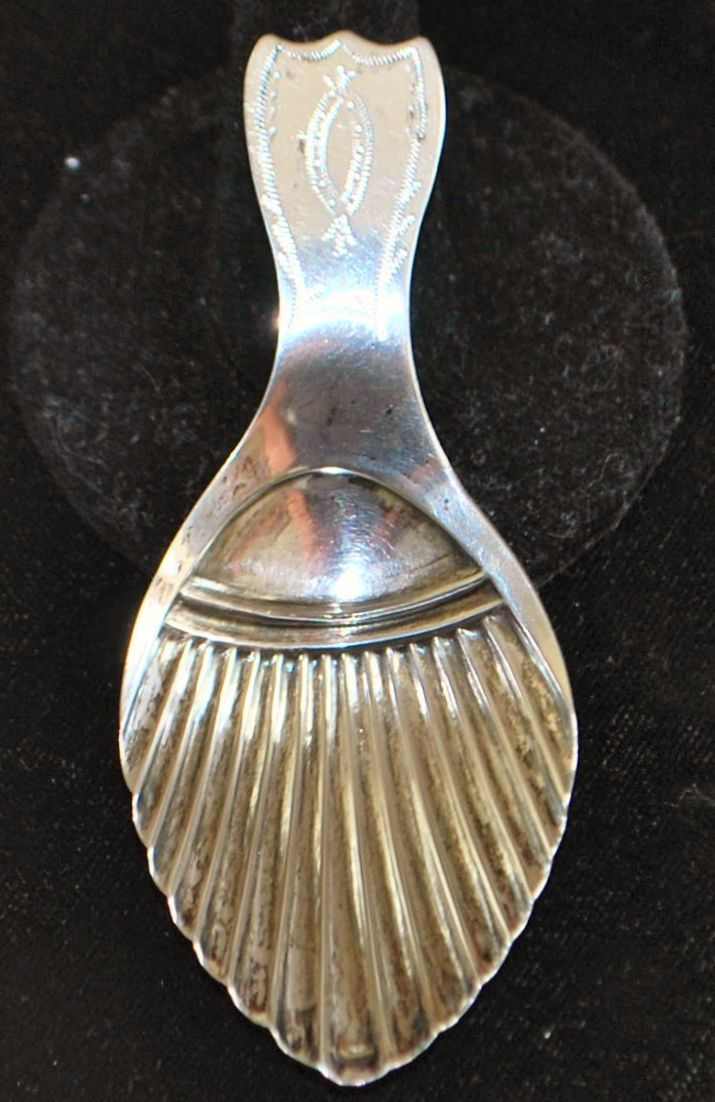 Dutch Silver Tea Caddy Spoon, c. 1827
