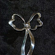 Tiffany & Co. Large Sterling Dress Bow Brooch
