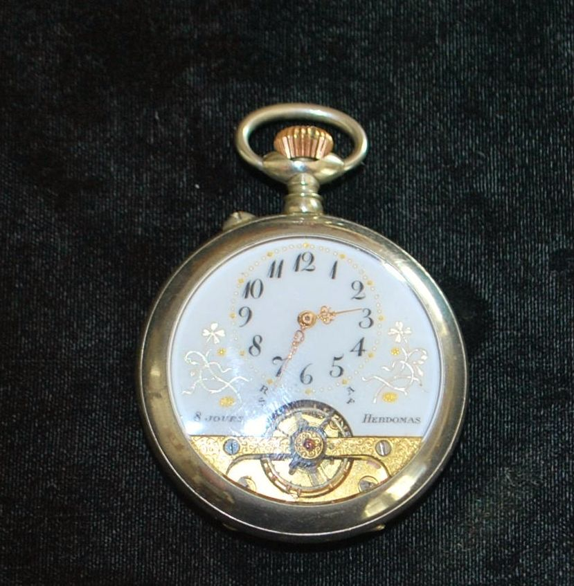 Swiss Hebdomas 8 day Pocket Watch, c. 1915