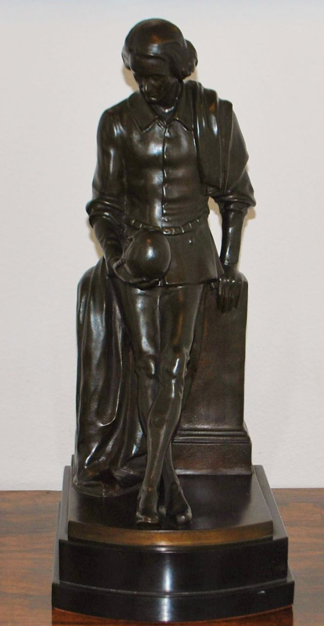 Bronze of Hamlet by Sandor Jaray, c. 1900