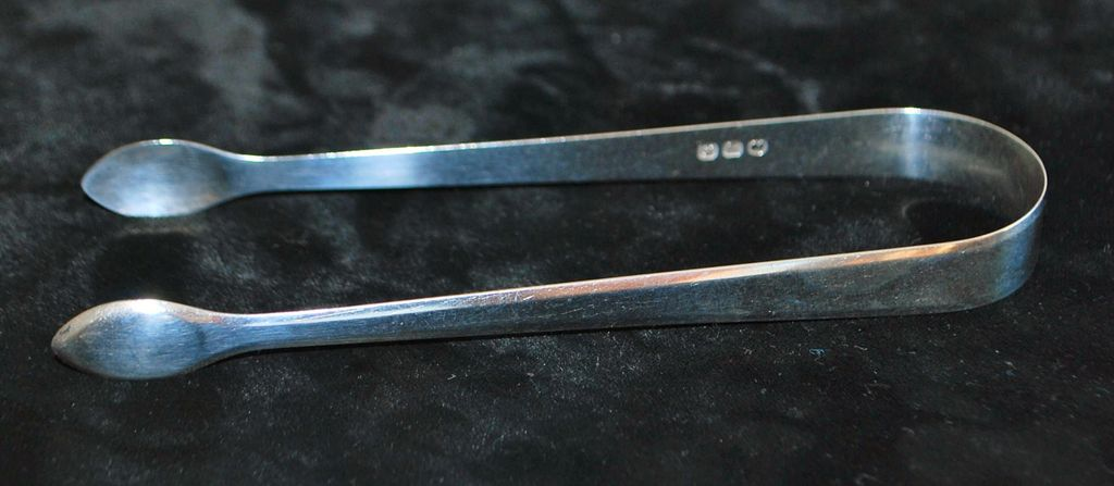 Peter & William Bateman Sterling Tongs, c. 1805