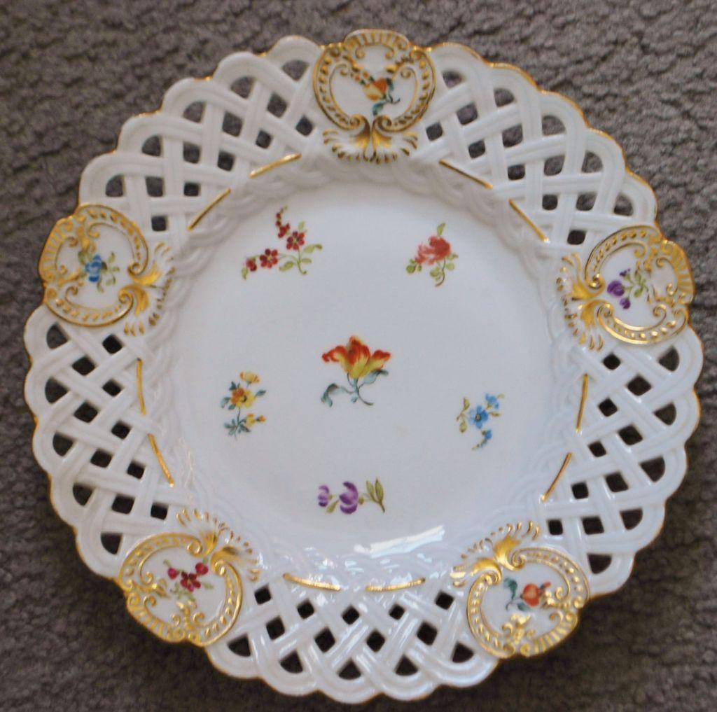 Franz Anton Lang Porcelain Plate,c.1850