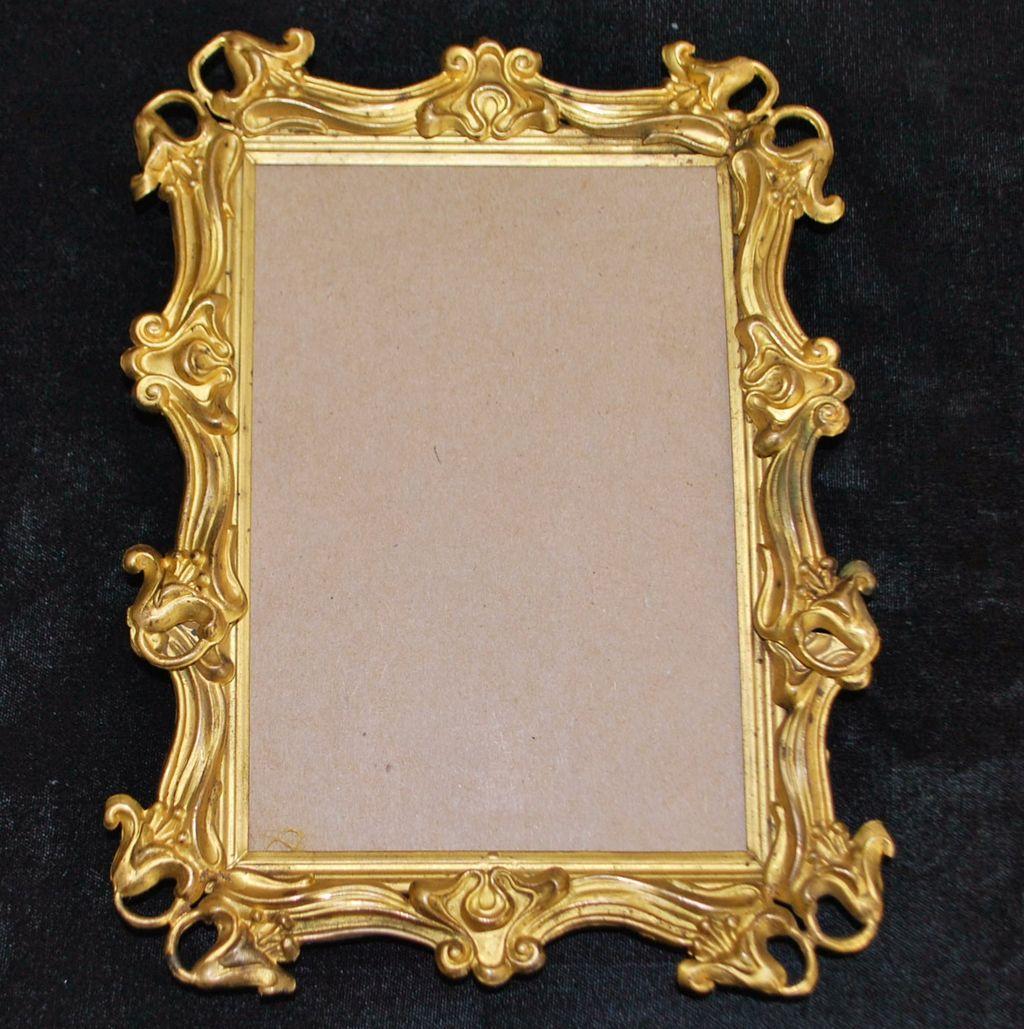 Art Nouveau Gilt Metal Frame C 1900 Antique World Usa