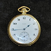 14K GF Elgin OF Pocket Watch, 1921