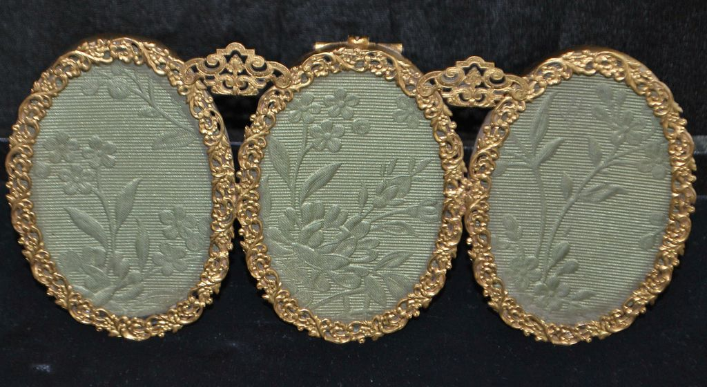 Marshall Field Gild Triptych Photo Frame, c. 1910