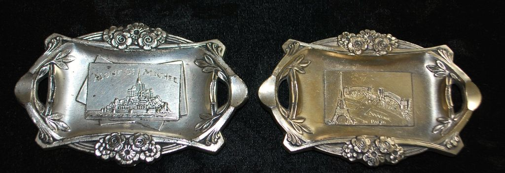 French Art Deco Cafe Ashtrays, c. 1930