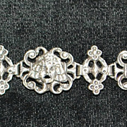 Italian  Peruzzi Sterling Silver  Mask Bracelet, c. 1910