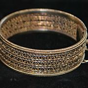 Portuguese 835 Silver Filigree Bracelet, c. 1930