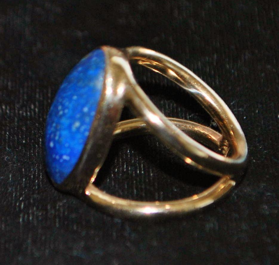 14K Modernist  Lapis Lazuli  Ring -1970's