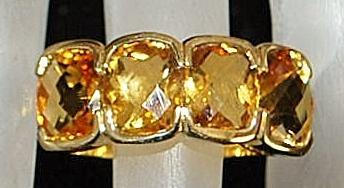 14K Man's Madera Citrine  Ring - 1980's