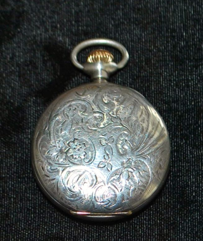 Lady's Sterling Silver Lapel Watch,c.1903
