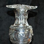 German 800 Silver Fancy Flower Vase - 1890's
