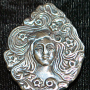 Sterling  Silver Brooch - 1970's