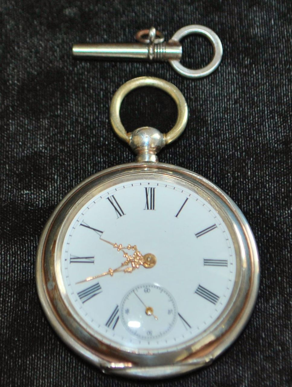 Swiss Cortebert 800 Silver Pocket Watch, 1880's