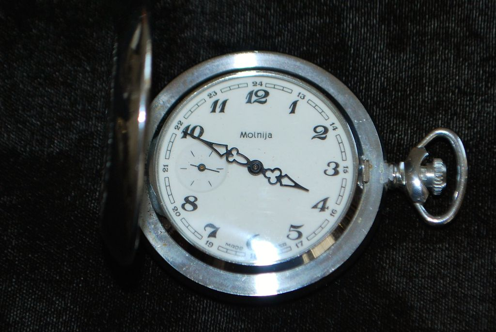 Russian Molnija Hunting Case Pocket Watch - 1970's