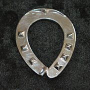 "German Fine Silver ""Horseshoe"" Paperweight - 1920's"