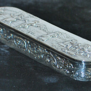 German Hanau Silver Table Snuff Box, c. 1900