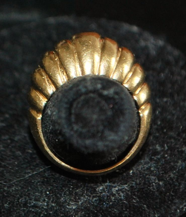 Heavy 14K Gold Dome Cocktail Ring - 1960's
