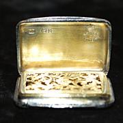 Asprey,London Victorian Sterling Silver Vinaigrette, c. 1860 - Red Tag Sale Item